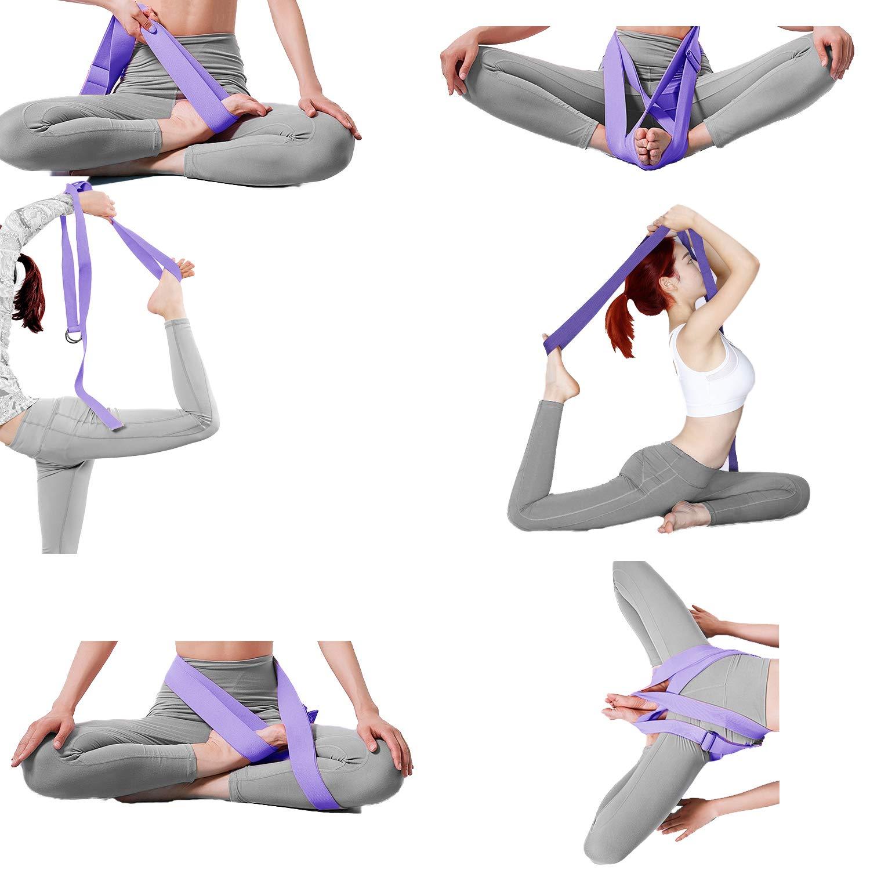 Tavie 2X Correa De Cinturón De Yoga para Ejercicio Físico ...
