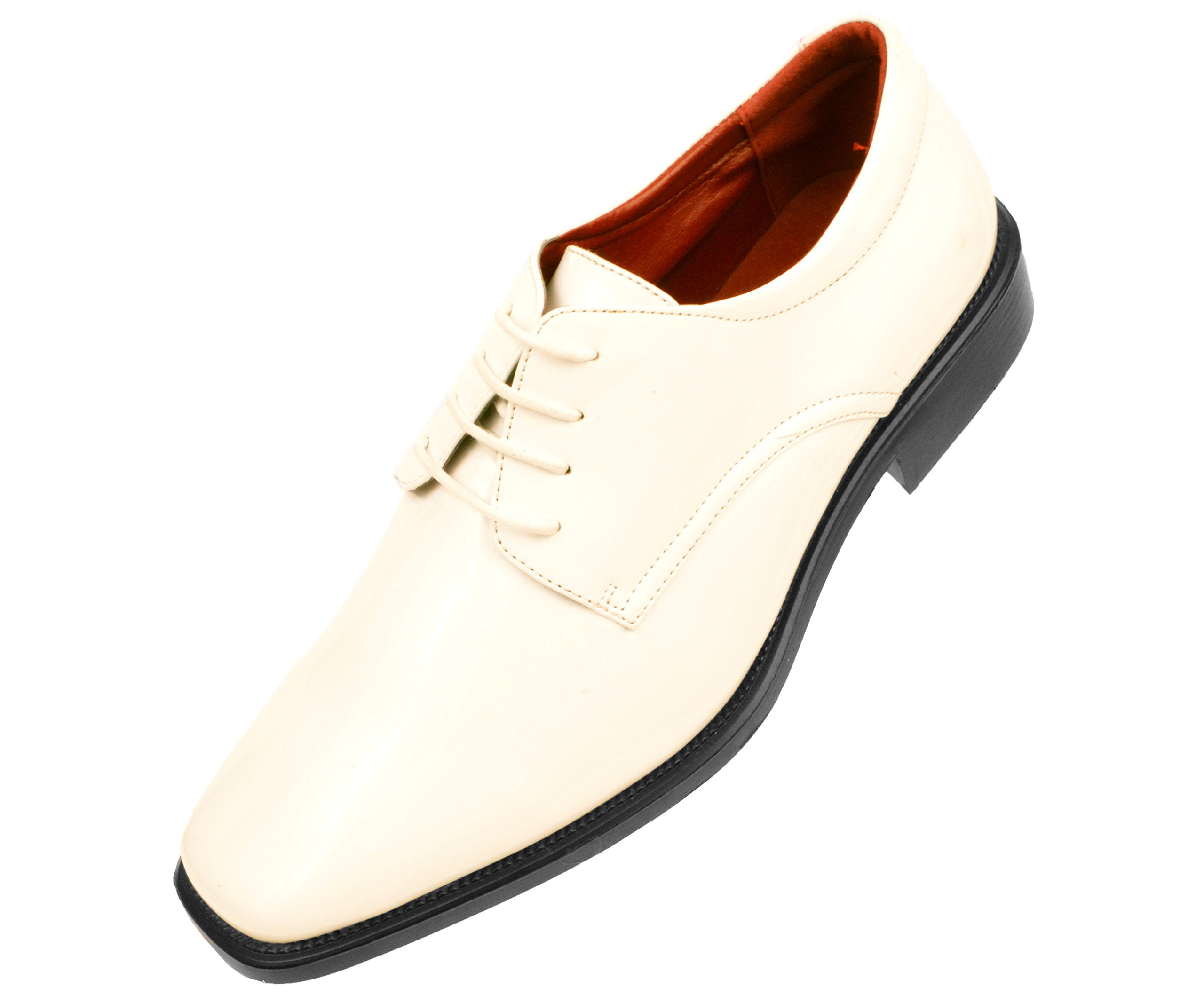 Amali Mens Classic Patent Plain Toe Tuxedo Oxford Dress Shoe Style 2851