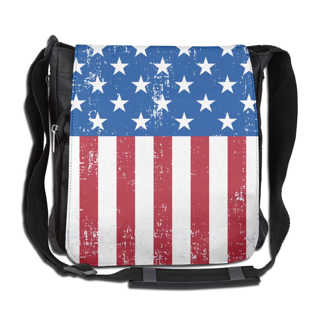 Retro American Flag Fashion Diagonal Single Shoulder Workout Bag