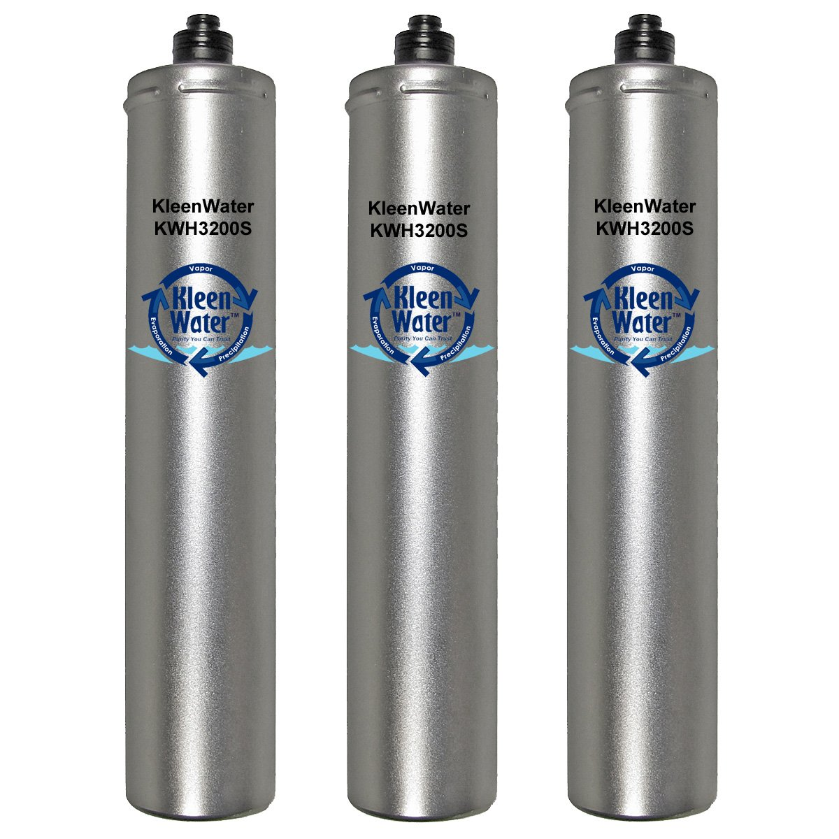 Hoshizaki 965511, 9655-11, 4HF-H, 4HF-C, 4HC-H and 9326-11H Compatible Filters, KleenWater Brand KWH3200S, Ice Machine, Food Service, Replacement Water Filter Cartridges, Set of 3