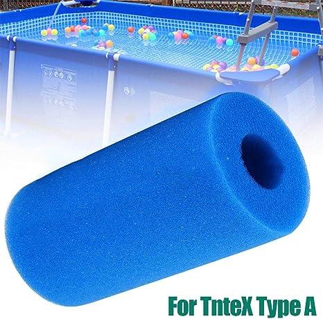 shewt Esponja de Filtro de Piscina para Intex Tipo A, Equipo de Limpieza de Filtro de Piscina Espuma Esponja de Cartucho de Esponja Lavable Reutilizable Espuma: Amazon.es: Hogar