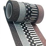 K-LIMIT 5 Set Washi Tape rotoli di nastro adesivo masking tape scrapbooking, DIY 9206