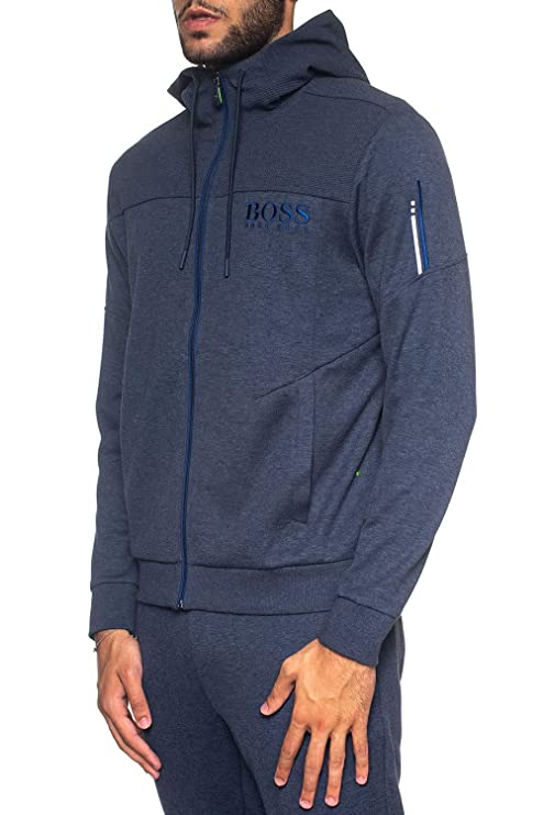 2a1500a47 BOSS TOP Hoodie Zip Through with Embroidery Logo 50387166 Saggy: Amazon.co. uk: Clothing