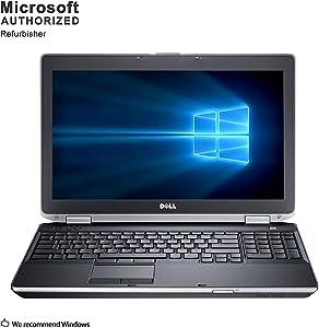 "Dell Latitude E6530 15.6"" FHD Laptop Intel Core i7-3520M 2.9 GHz 16GB Ram 480GB SSD NVIDIA Video Card Windows 10 Professional 64-bit (Renewed)"