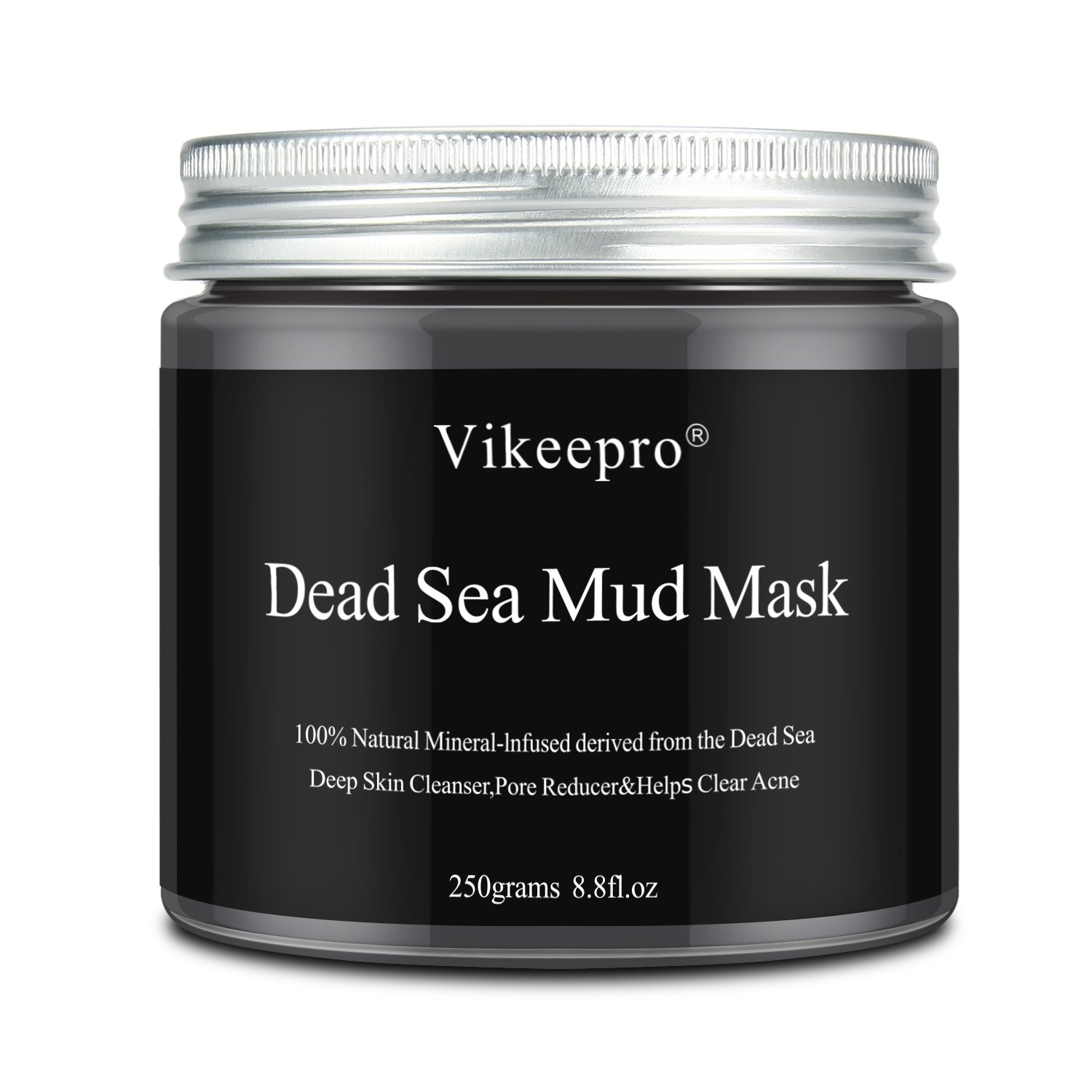 Vikeepro Dead Sea Mud Mask Face Mask Deep Cleansing Exfoliation Minimizes Pores Reduces Acne Wrinkles Blackhead Remover Anti Oily Skin For Face And Body