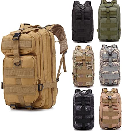 Trendy Rucksack Backpack Outdoor Military Tactical Hiking Camping 30L Black//CP
