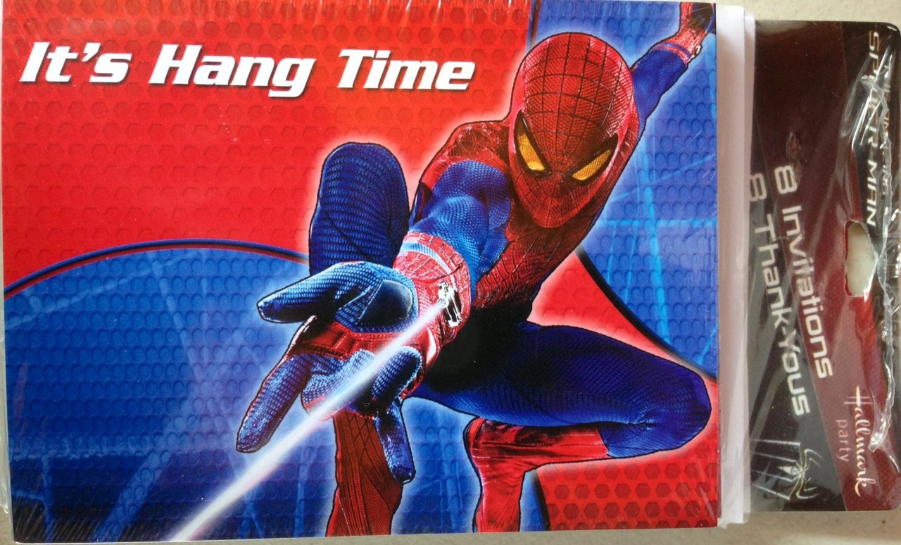 The Amazing Spider-Man Invitations & Thank You Cards w/ Envelopes (8ct) by Hallmark (Image #1)