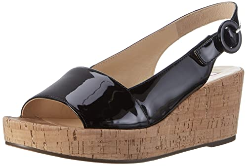 Womens 3-10 3204 0100 Sling Back Heels, Black H?gl