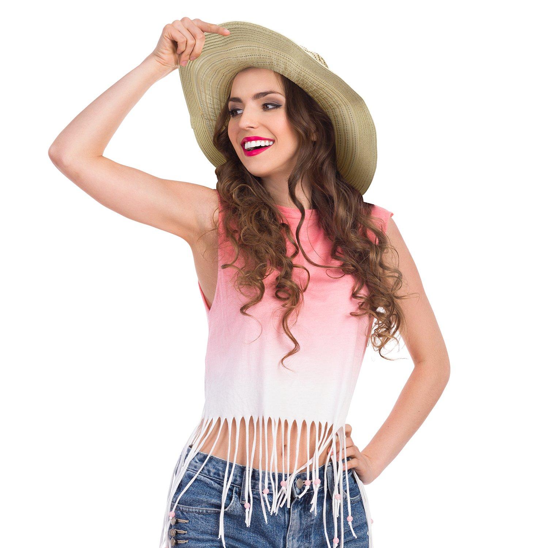Women Summer Sun Beach Straw Hat Floppy Foldable Wide Brim Gardening Hiking Hat