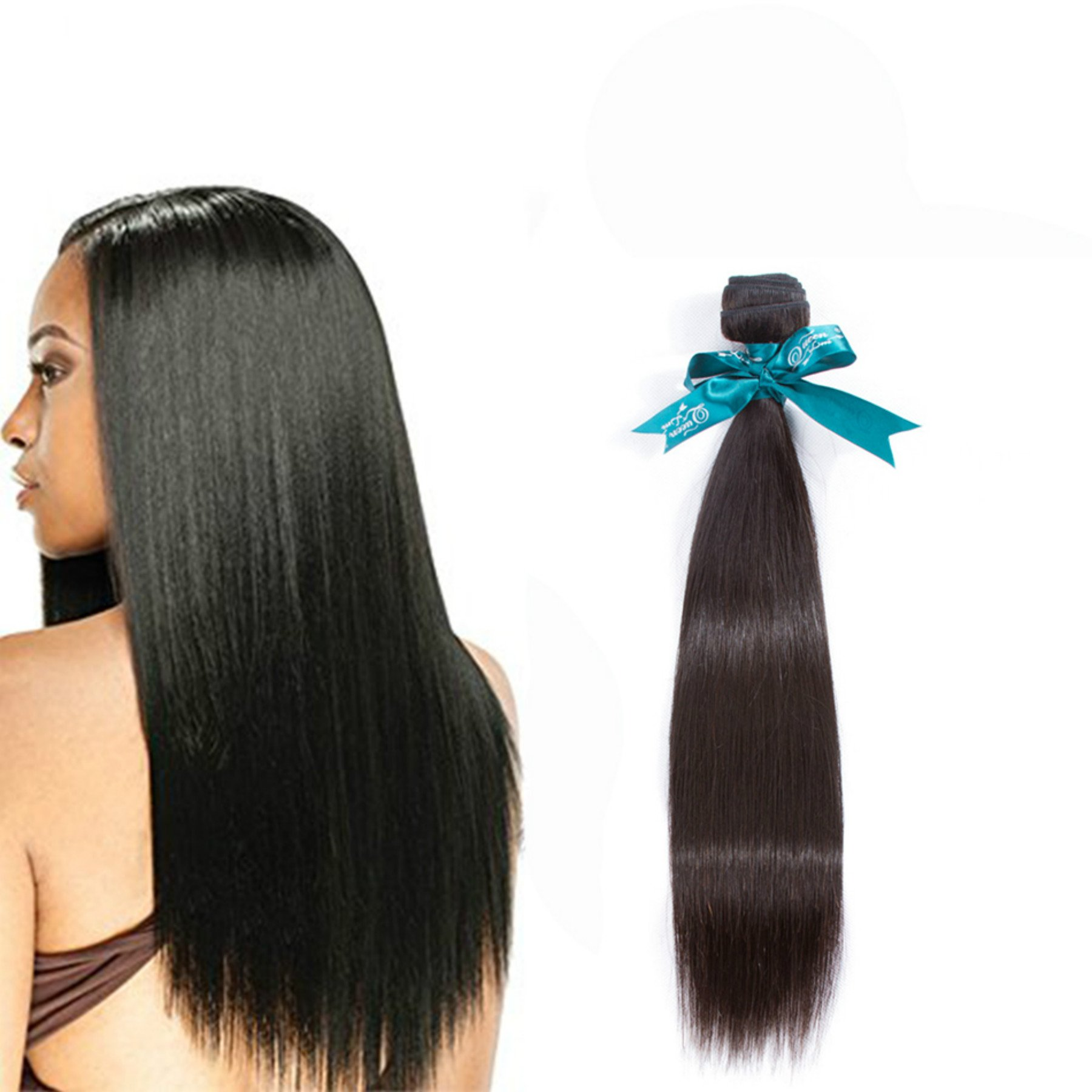 Amazon Queen Love Hair Brazilian Virgin Hair Straight 1 Bundle