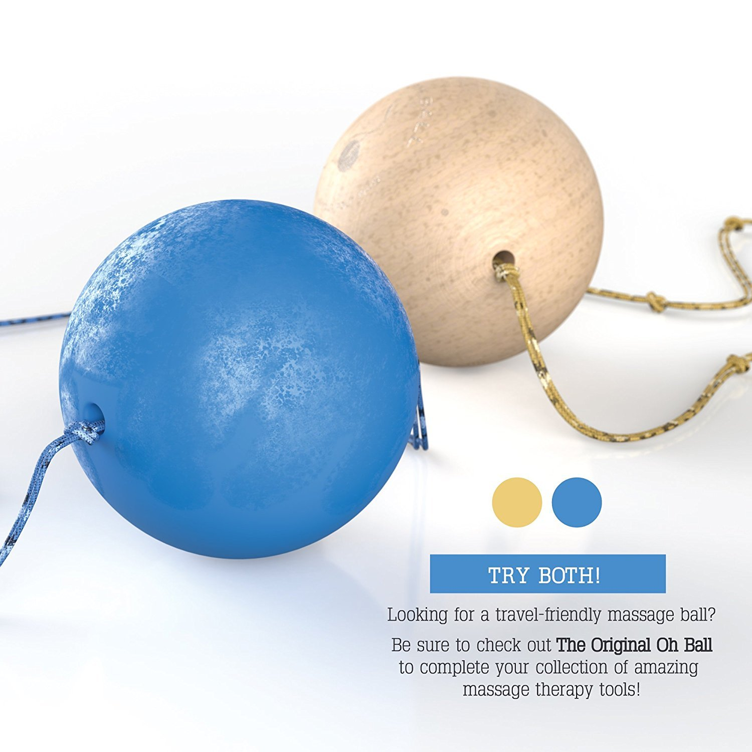 CombOhBall - Plantar Facitis Relief - The Ice Cold SnOh Ball + Original OhBall Foot Massage Ball Combo With Paracord Handles - Fastest Long-term Foot Pain Relief Guaranteed - Targets Plantar Fasciitis by The Oh Ball (Image #8)