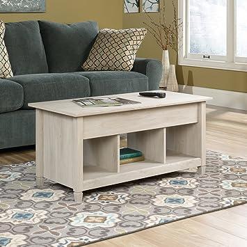Sauder 419096 Coffee Table, Furniture Edge Water Lift Top, Chalk Chestnut