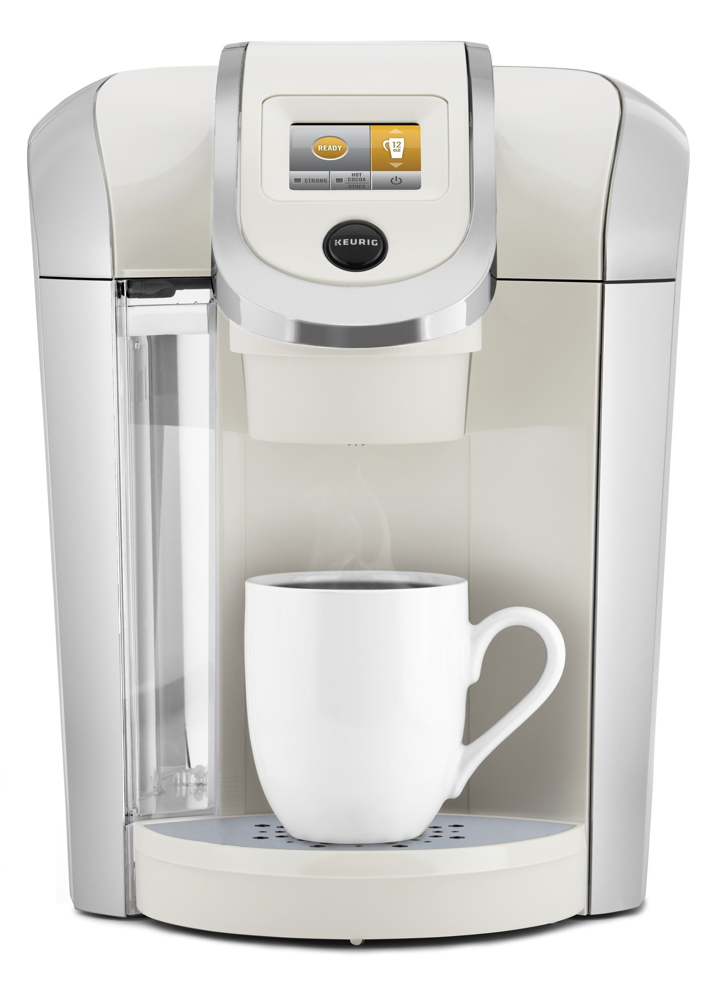Keurig K475 Single Serve Programmable K- Cup Pod Coffee Maker with 12 oz brew size and temperature control, Sandy Pearl