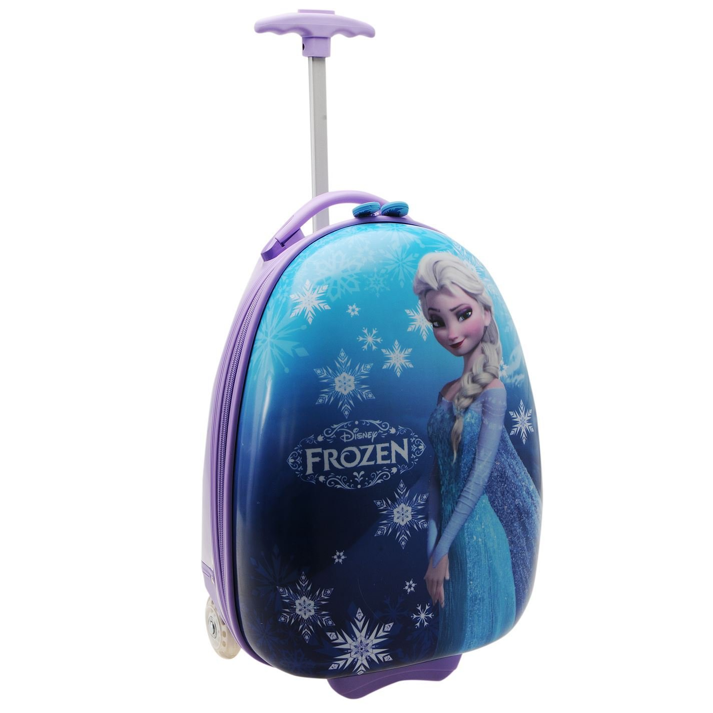Disney Frozen Elsa Trolley Suitcase Childs Blue Kids Travel Luggage Bag Case 19in/48cm by Disney Frozen