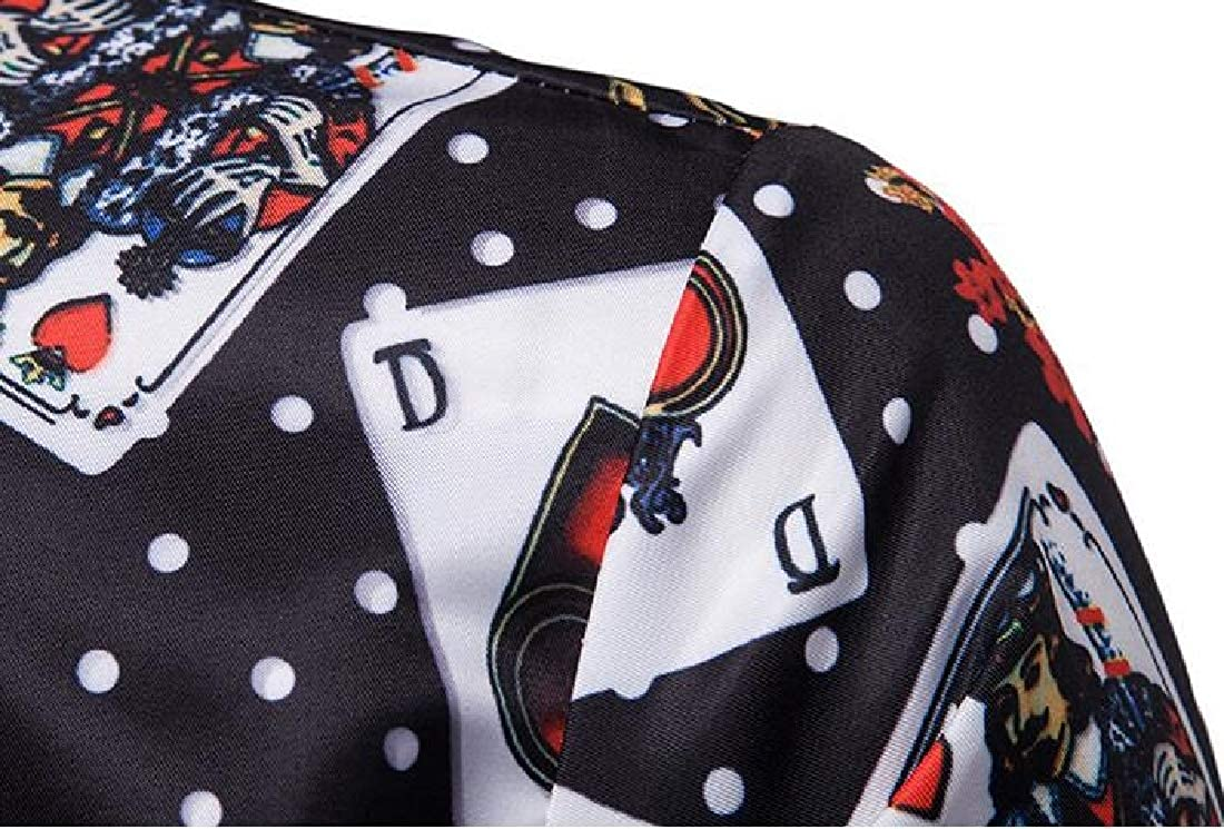 WAWAYA Mens Long Sleeve Button Down Print Casual Business Dress Work Shirt