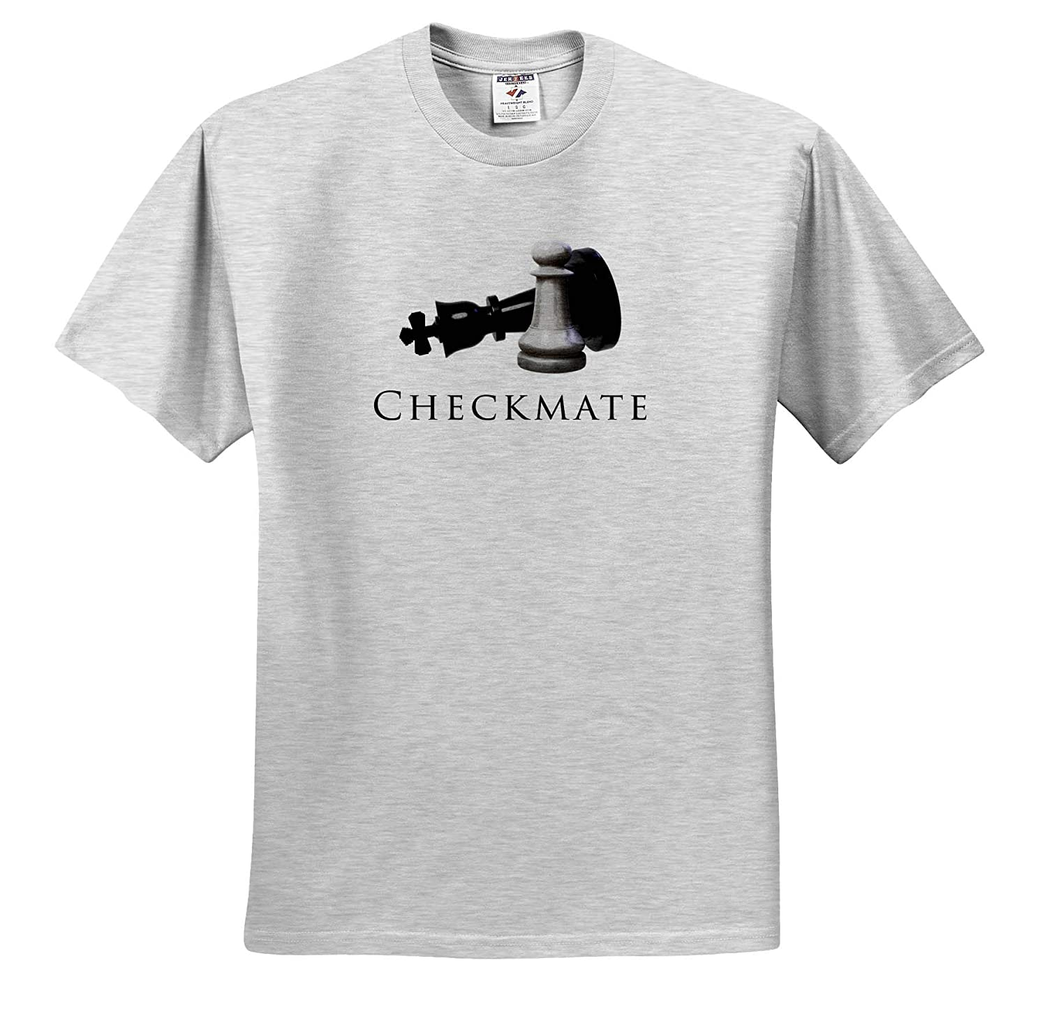 3dRose Macdonald Creative Studios Funny Chess Design - T-Shirts Checkmate Pawn Piece checkmating The Queen Chess