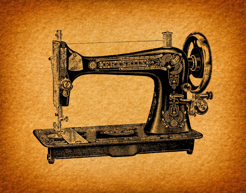 Amazon.com: Sewing Machine Wall Art with an Antique Illustration ...