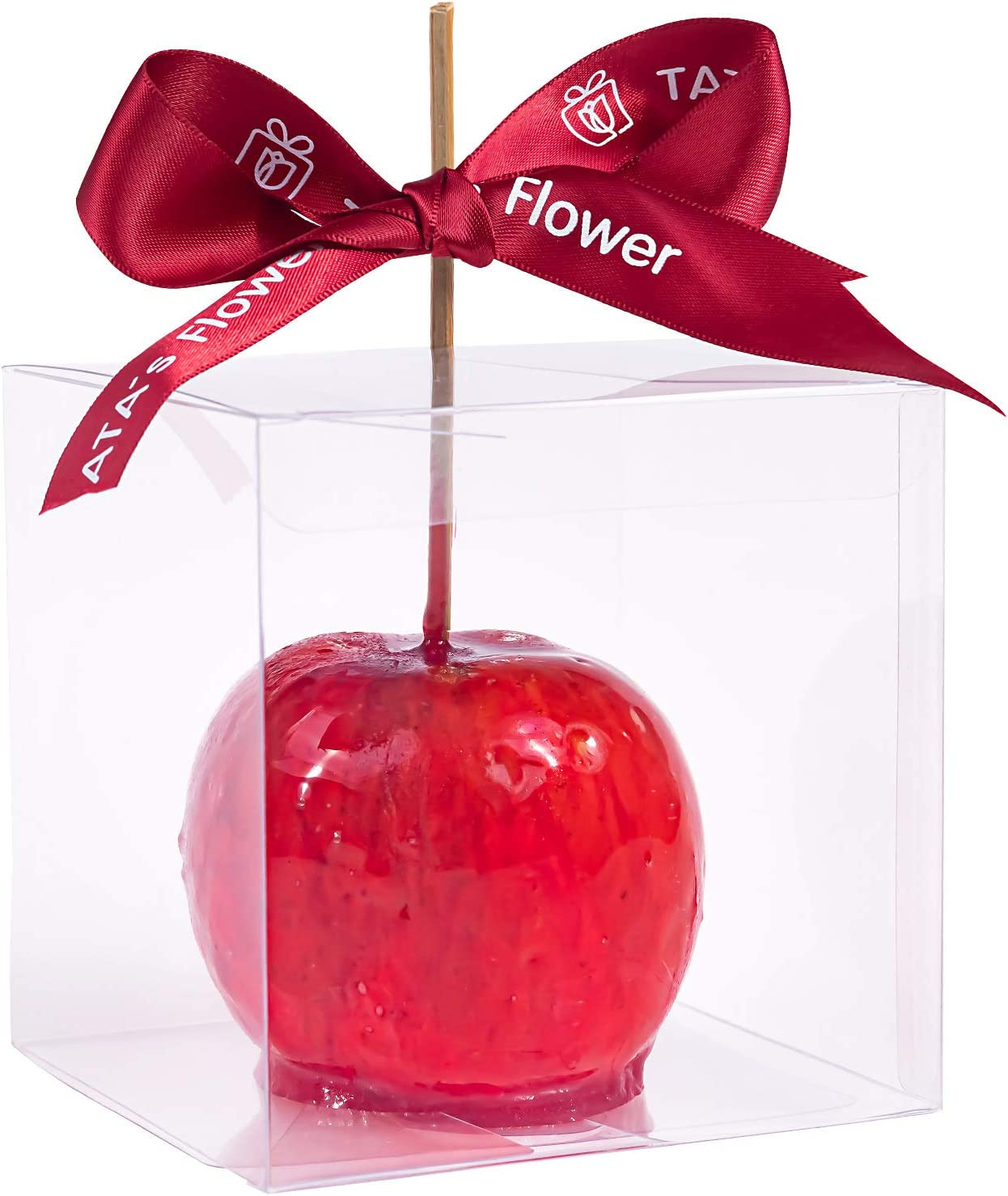 Clear Candy Apple Boxes with Hole 4