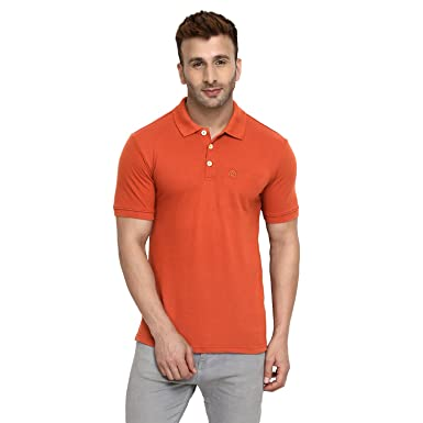 95289d7675 Image Unavailable. Image not available for. Colour: CHKOKKO Cotton Polo  Neck Half Sleeves Plain T Shirts ...