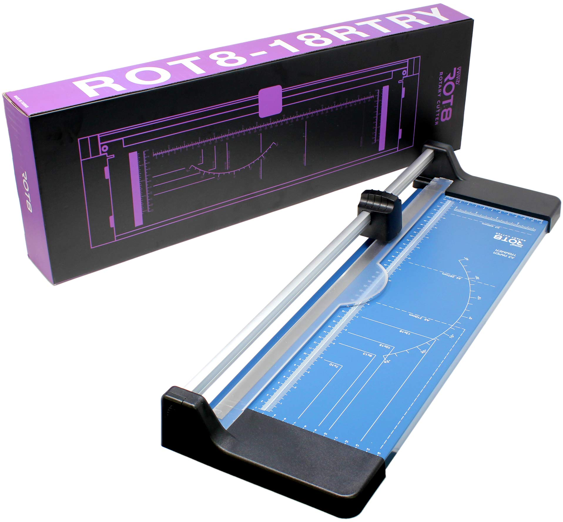 VViViD Rot8 18'' Heavy-Duty Sliding Rotary Paper Cutter and Trimmer