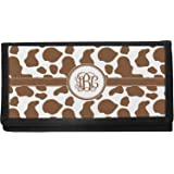 Cow fabric checkbook cover