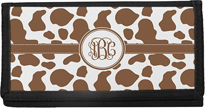 COW  print Checkbook Cover Personalized