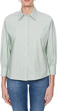 Pinko - Camisa verde, modelo Kolbi1, de popelín de algodón ...