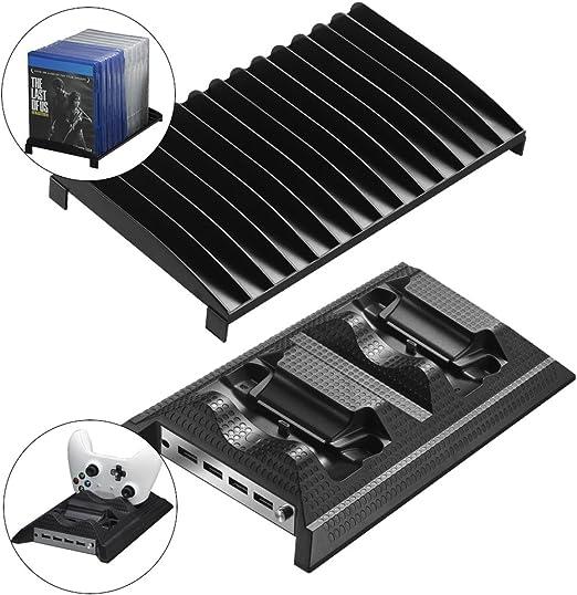 PinPle Xbox Uno refrigeración ventilador Xbox One Silm controlador estación de carga con 14 ranuras de