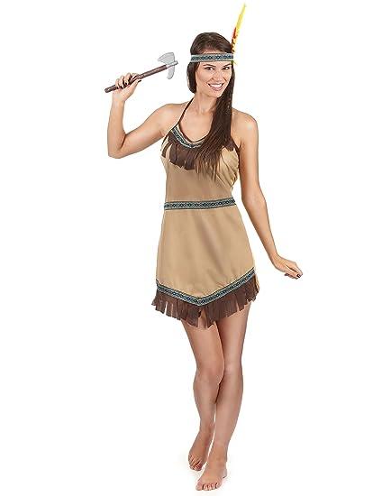 Disfraz india mujer Única