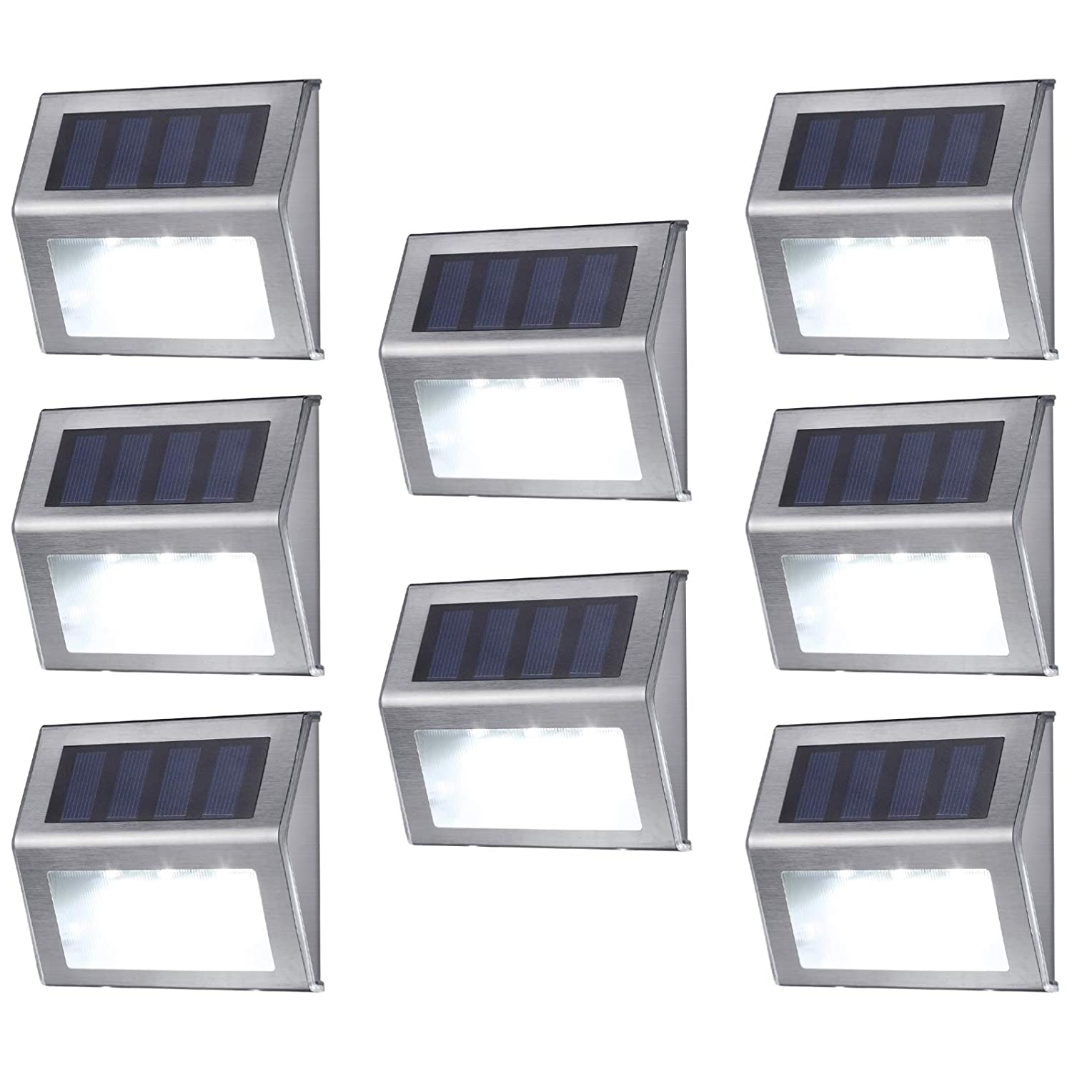 MEIHONG Stainless Steel Solar Accent Lights Outdoor