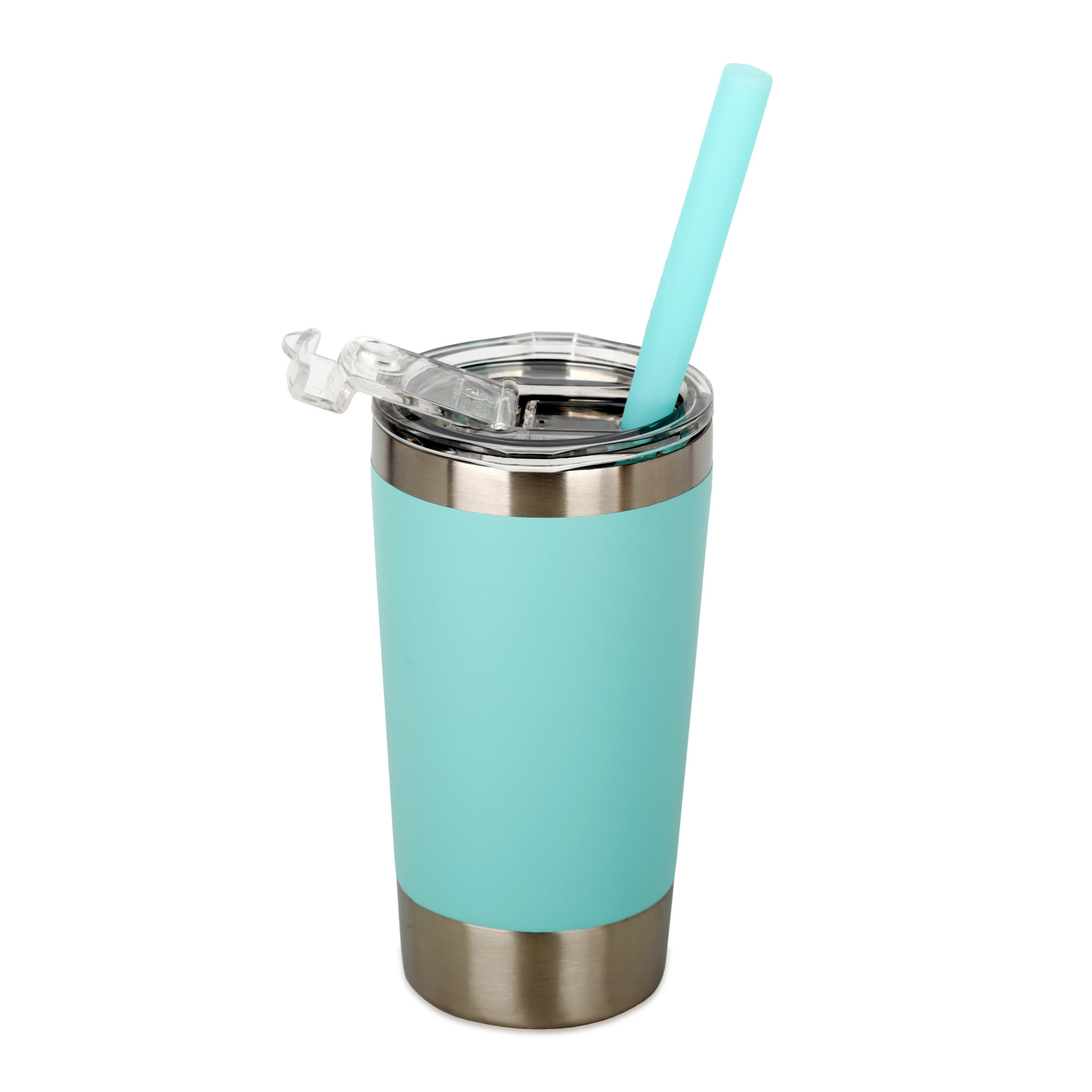 Housavvy Kids Tumbler Double-Walled Stainless Steel 12 oz, Teal