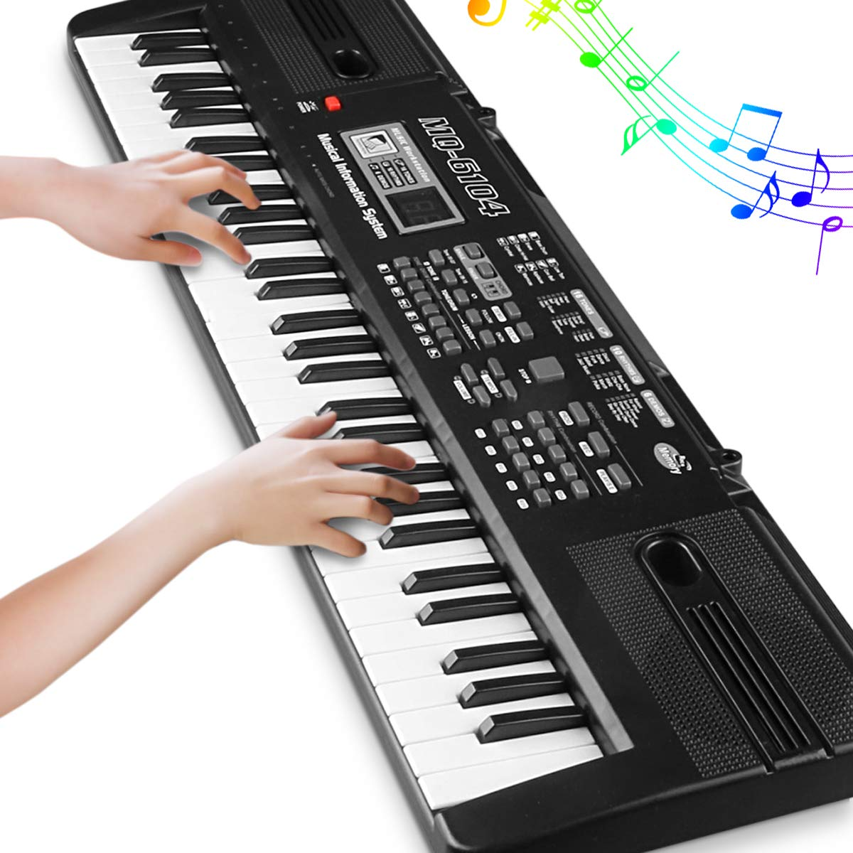 Digital Music Piano Keyboard 61 Key - Portable Electronic Musical Instrument with Microphone Kids Piano Musical Teaching Keyboard Toy For Birthday Christmas Festival Gift by Tencoz