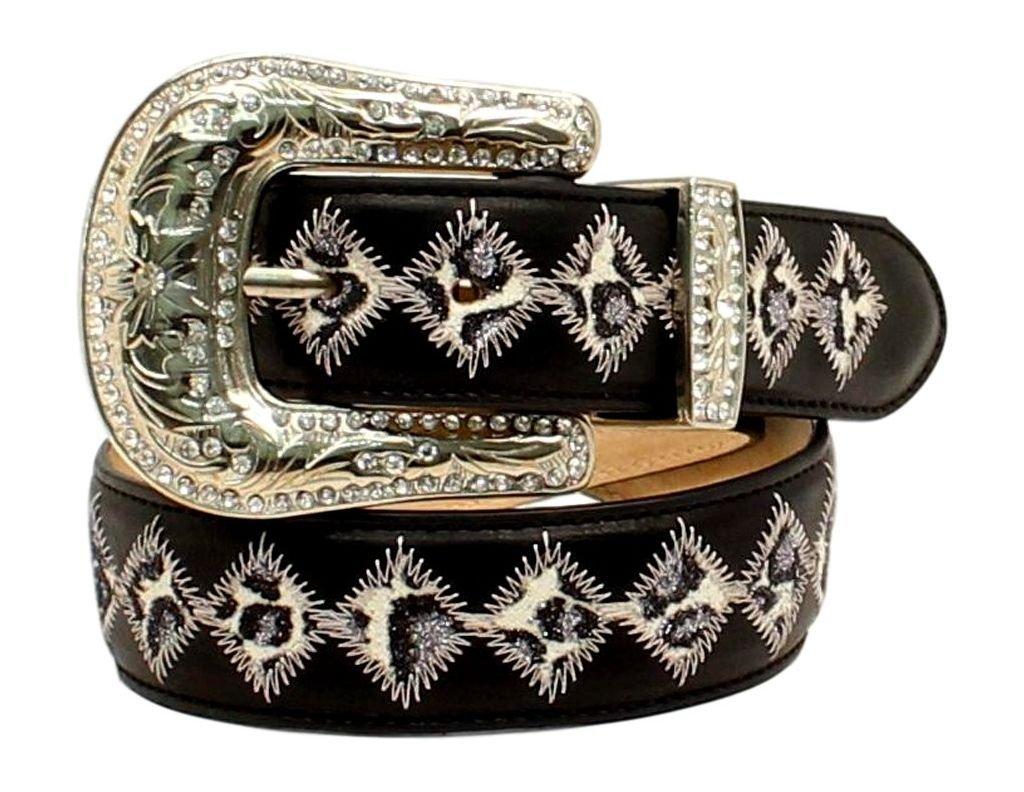 Blazin Roxx Girl's Glittered Leopard Print Belt, Black, 20 by Blazin Roxx (Image #1)