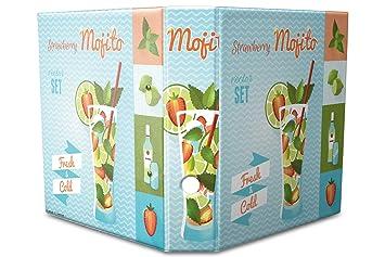 Archivador A4 Carpeta 2 anillas 60mm impreso Mojito de fresa: Amazon.es: Hogar