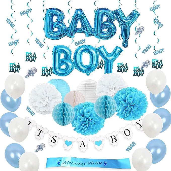 Amazon.com: Set de decoración para la ducha de bebé, diseño ...