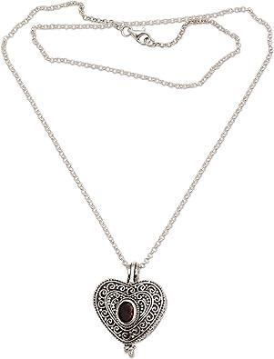 Filigrana de plata esterlina 925 Corazón Colgante