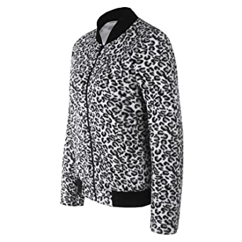 Print Leopard Coat Women Autumn Coat Clothes Jacket Slim Outwear Abrigos Mujer Fashion Streetwear at Amazon Womens Coats Shop