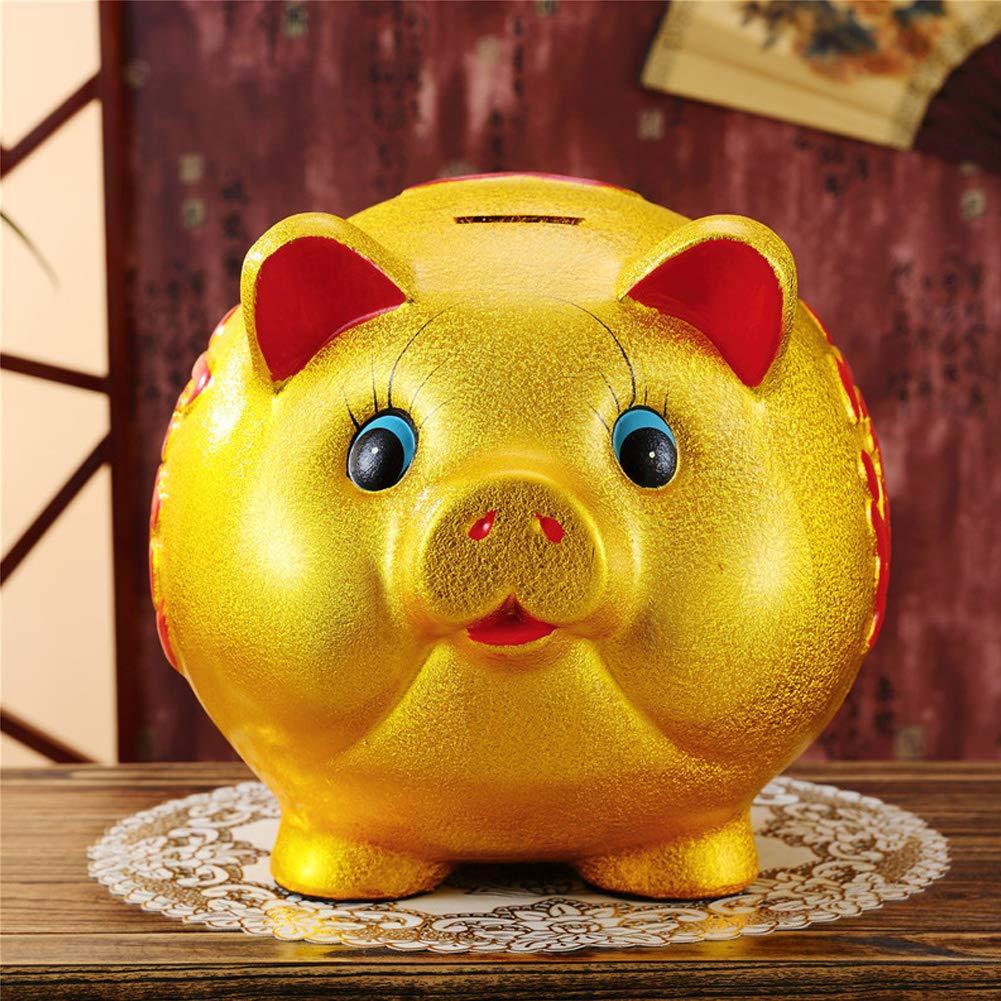 18'' Gold Pig Lucky Porcelain Fortune Pig Money Box Piggy Bank by FANCY PUMPKIN (Image #2)