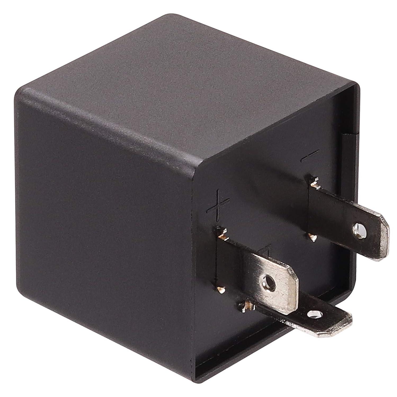 Kinstecks 2Pin Flasher Relay 12V Indicatori del Motociclo LED Light Flasher per Moto Indicatori LED Indicatori di direzione
