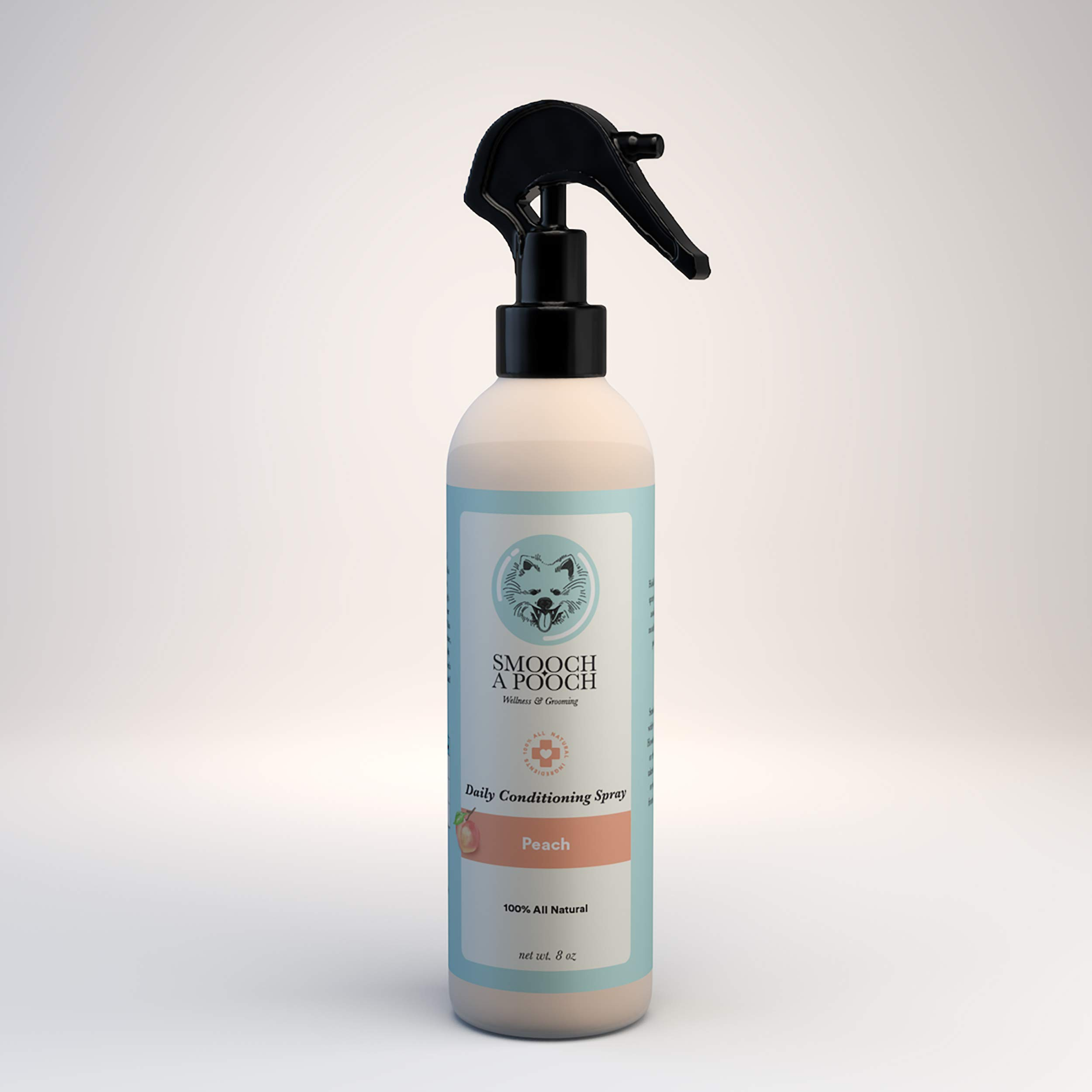Smooch A Pooch All-Natural Daily Conditioning Spray | Large 8 oz Peach Feminine Scent