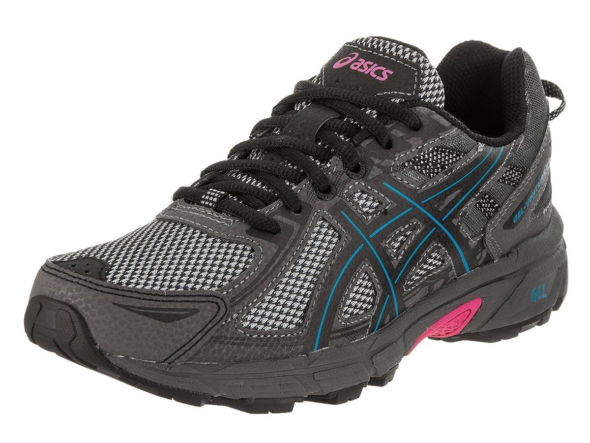 Black-Island bluee-Pink ASICS Womens Womens Gel-Venture 6 Running shoes