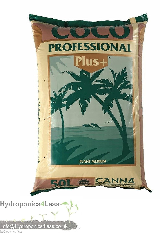 50L, 25L & 10L CANNA COCO Professional Plus+ HYDROPONICS GROWING TENT MEDIA SOIL (10 Litre) hydroponics4less