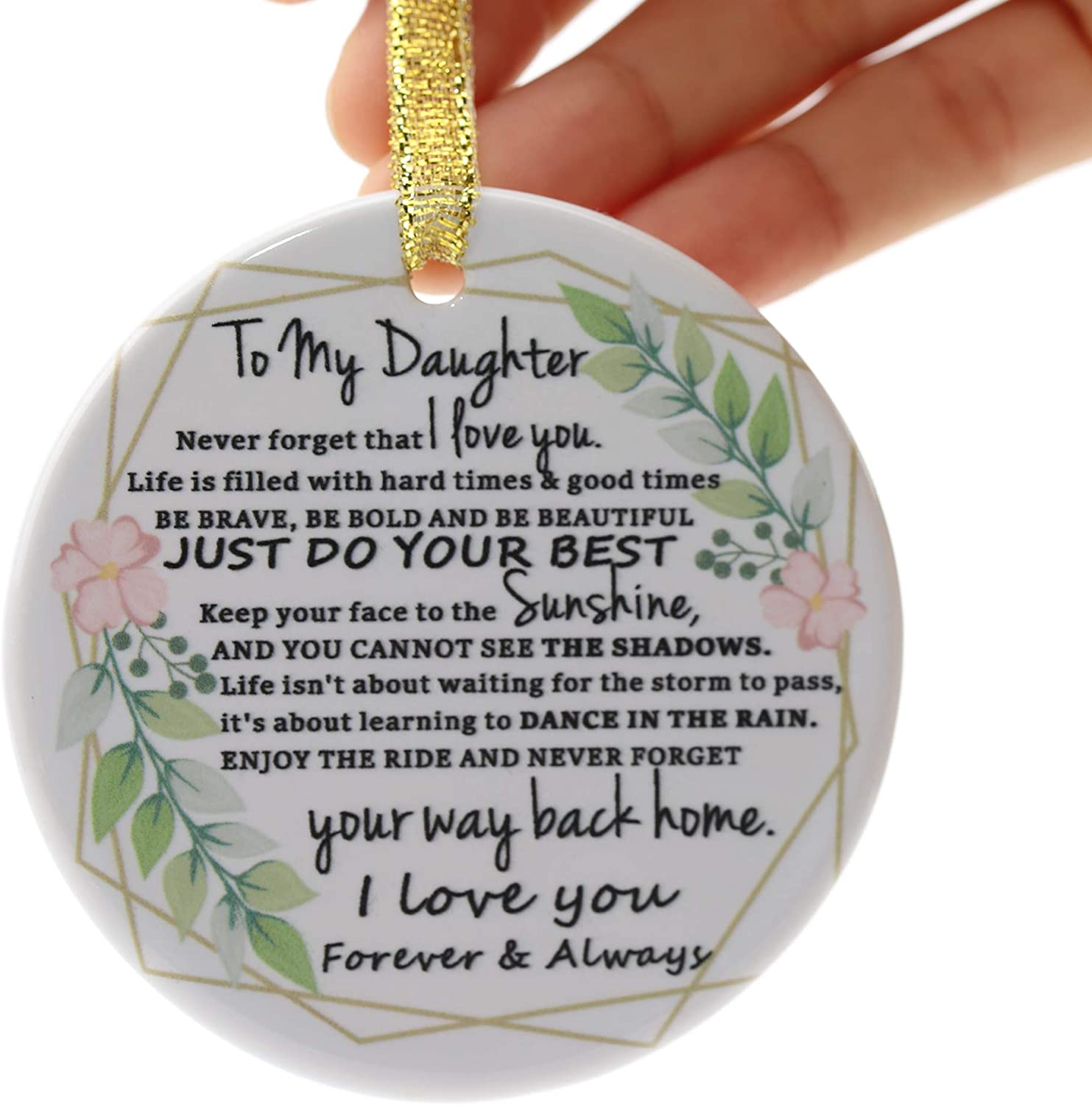 Babys First Christmas Ornament 2020 Two-Side Printed Ceramic Christmas Ornament for New Mom Holiday Keepsake Gift for New Parents