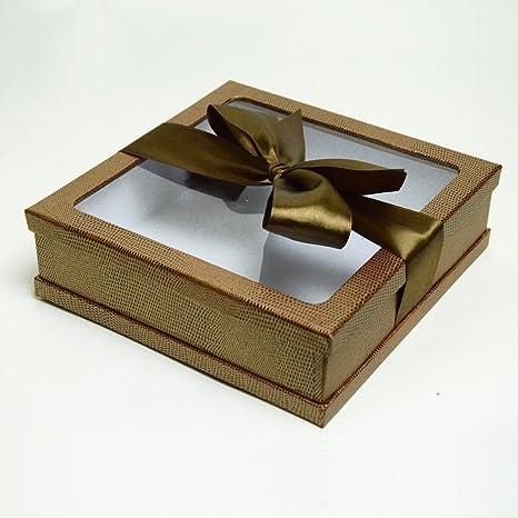 Gourmet tratar cajas de regalo, color marrón