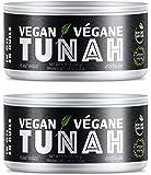 Vegan TuNAH - Plant Based Tuna Alternative in Oil - 2 Pack - Easy Open Lid