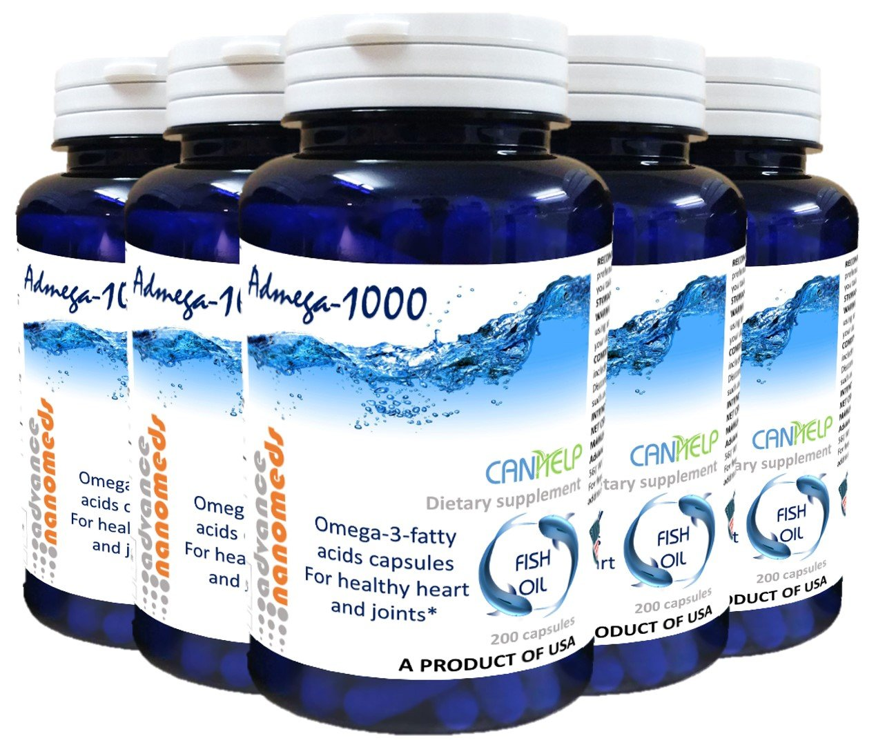 Omega 3 Fish Oil Capsules (35 Packs of 200 capsules) With 50% EPA DHA 1000mg (35)