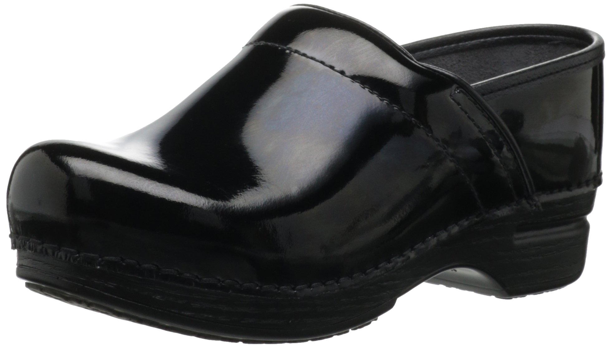 Dansko Women's Wide Pro XP Clog,Black Patent,39 EU/8.5-9 W US