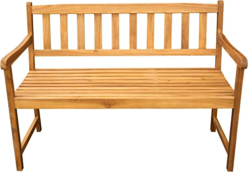 Thirteen Chefs Acacia Wood Bench, 4 Feet Outdoor Patio Seating, 48 Inch Wide