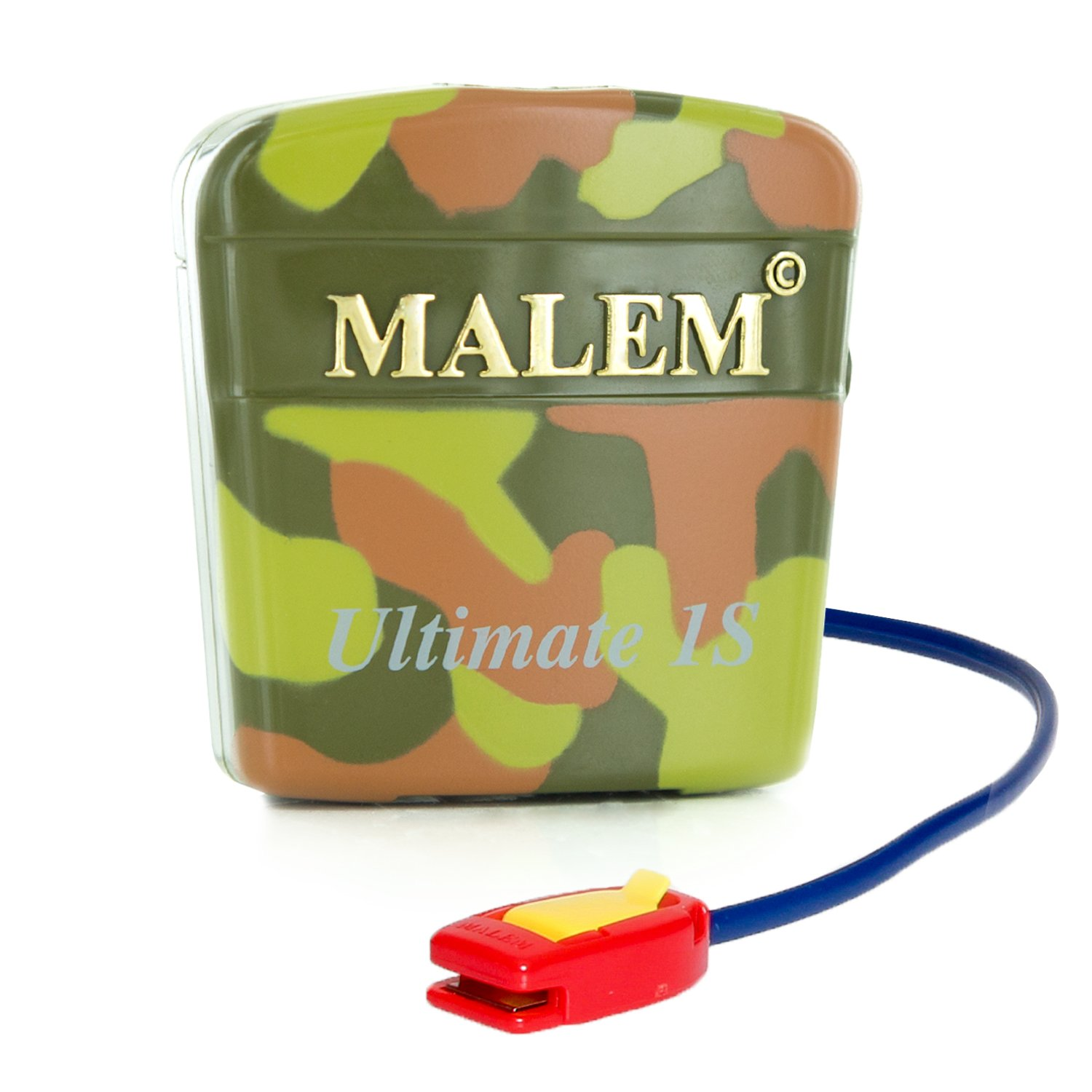 Malem Ultimate PRO Selectable CAMOUFLAGE Bedwetting Alarm with Vibration - Camouflage