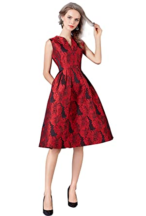 Robe de cocktail rouge amazon